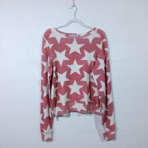 Wildfox Pink Sweatshirt With Stars.
